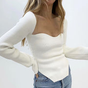 Charlie Scoop Neck Knit Top