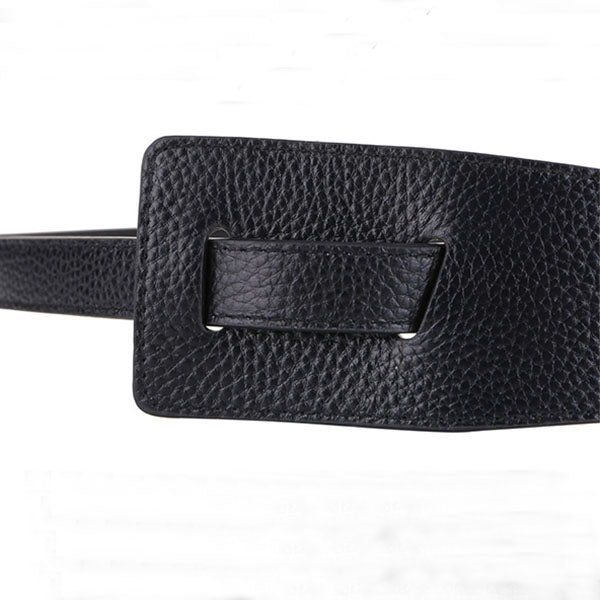 Burna Genuine Leather Knotted Strap Belt