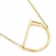 Chloe Minimalist Name Initial Necklace