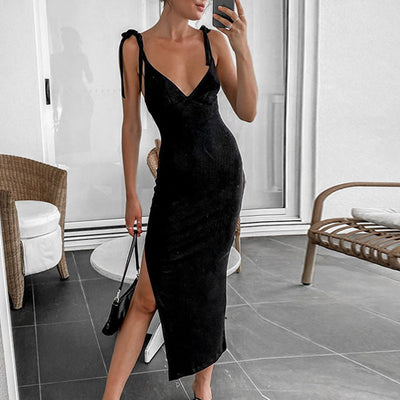 Adeline Ribbed Style Bodycon Midi Dress