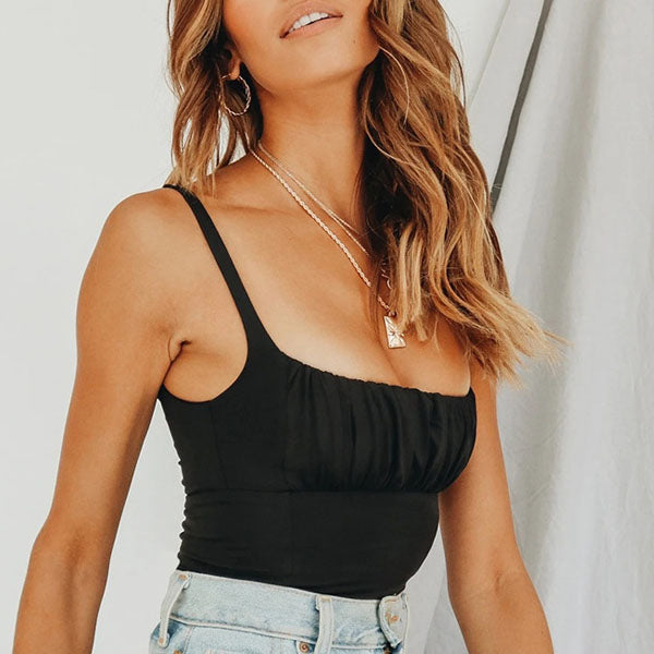 Alisha Ruched Front Crop Top