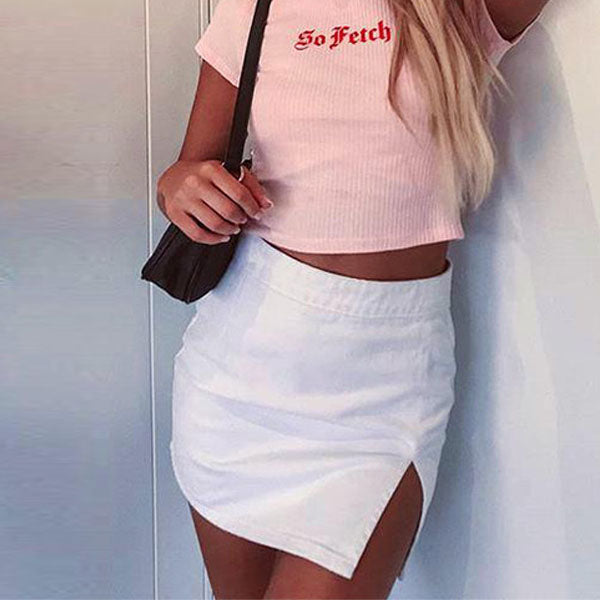 Lina High Waist Mini Skirt