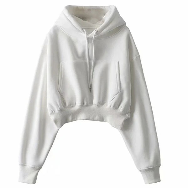 Anabelle Cropped Hoodie Sweater Top