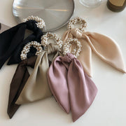 Chrissie Pearl Scarf Ponytail Holder
