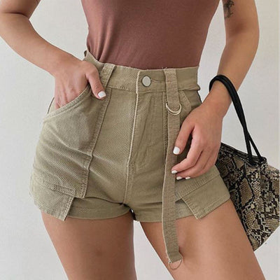 Noelle High Waist Cargo Shorts
