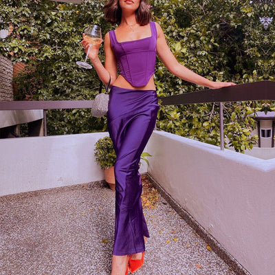 Laura Eyelet Lace Skirt Set