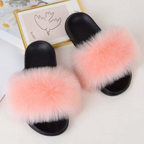 Rita Faux Fur Slide Sandals