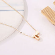 Nelly Dainty Heart & Personalized Initial Necklace