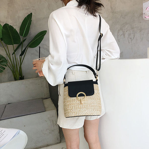 Heather Straw Mini Bag