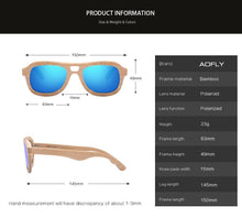 Load image into Gallery viewer, AOFLY BRAND DESIGN Wood Polarized Sunglasses - Sunglass Associates,Sunglasses Online, Sunglass Deals, Sunglassassociates, www.sunglassassociates.com