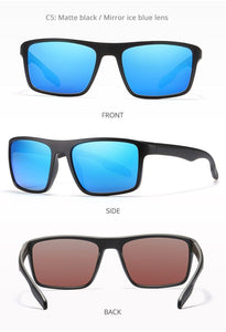 KDEAM Rectangular Ultra Light TR90 Mens Sunglasses - Sunglass Associates,Sunglasses Online, Sunglass Deals, Sunglassassociates, www.sunglassassociates.com