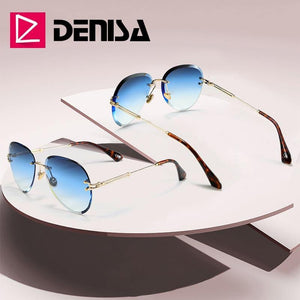 DENISA Blue Rimless Womens Sunglasses - Sunglass Associates,Sunglasses Online, Sunglass Deals, Sunglassassociates, www.sunglassassociates.com