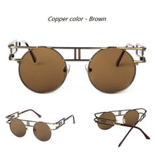 Load image into Gallery viewer, Gothic Steampunk Round Vintage Sunglasses - Sunglass Associates,Sunglasses Online, Sunglass Deals, Sunglassassociates, www.sunglassassociates.com