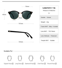 Load image into Gallery viewer, MERRYS DESIGN Womens Retro Rivet Polarized Sunglasses - Sunglass Associates,Sunglasses Online, Sunglass Deals, Sunglassassociates, www.sunglassassociates.com