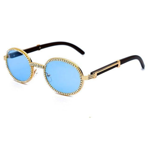 JASPEER Mens Round Rhinestone Sunglasses Ships From a U.S. Supplier - Sunglass Associates,Sunglasses Online, Sunglass Deals, Sunglassassociates, www.sunglassassociates.com