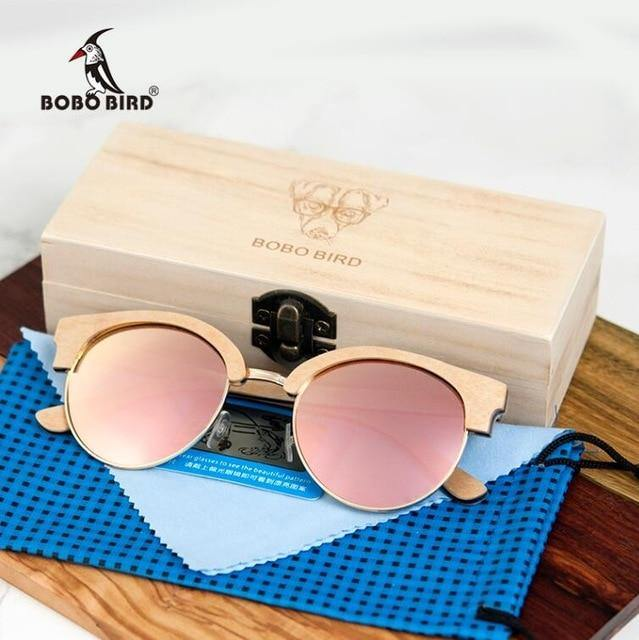 BOBO BIRD Sunglasses Womans Wooden Sunglasses - Sunglass Associates,Sunglasses Online, Sunglass Deals, Sunglassassociates, www.sunglassassociates.com