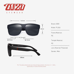 20/20 Brand Design Retro Polarized Mens Sunglasses - Sunglass Associates,Sunglasses Online, Sunglass Deals, Sunglassassociates, www.sunglassassociates.com