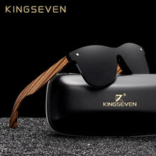 Load image into Gallery viewer, KINGSEVEN Zebra Wooden Men's Square Sunglasses - Sunglass Associates,Sunglasses Online, Sunglass Deals, Sunglassassociates, www.sunglassassociates.com  pilot, cat eye, kids, men, adult, vinta