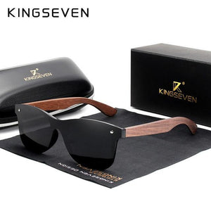 KINGSEVEN Mens Polarized Walnut Wooden Sunglasses - Sunglass Associates,Sunglasses Online, Sunglass Deals, Sunglassassociates, www.sunglassassociates.com