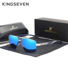 Load image into Gallery viewer, KINGSEVEN Aluminum Men's Polarized Square Sunglasses - Sunglass Associates,Sunglasses Online, Sunglass Deals, Sunglassassociates, www.sunglassassociates.com  pilot, cat eye, kids, men, adult,