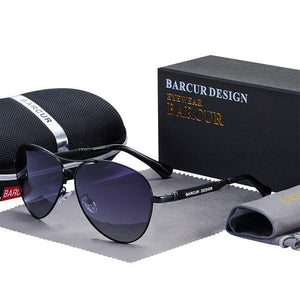 BARCUR Design Titanium Alloy Men's Pilot Sunglasses Ships From A United States Supplier - Sunglass Associates,Sunglasses Online, Sunglass Deals, Sunglassassociates, www.sunglassassociates.com