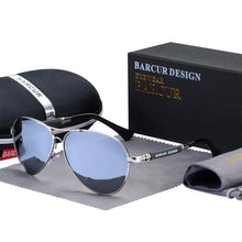 Load image into Gallery viewer, BARCUR Design Titanium Alloy Men's Pilot Sunglasses Ships From A United States Supplier - Sunglass Associates,Sunglasses Online, Sunglass Deals, Sunglassassociates, www.sunglassassociates.com