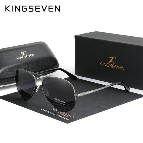 KINGSEVEN Brand Men's Aluminum Sunglasses