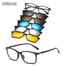 Load image into Gallery viewer, Belmon 5 Piece Clip On Magnetic Polarized Sunglasses - Sunglass Associates,Sunglasses Online, Sunglass Deals, Sunglassassociates, www.sunglassassociates.com