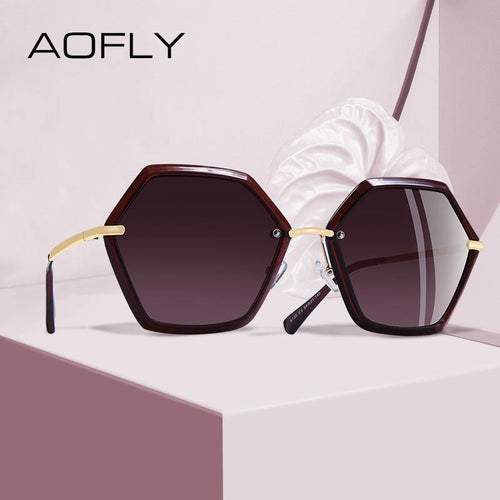 AOFLY BRAND DESIGN Women's Unique Hexagon Sunglasses - Sunglass Associates,Sunglasses Online, Sunglass Deals, Sunglassassociates, www.sunglassassociates.com