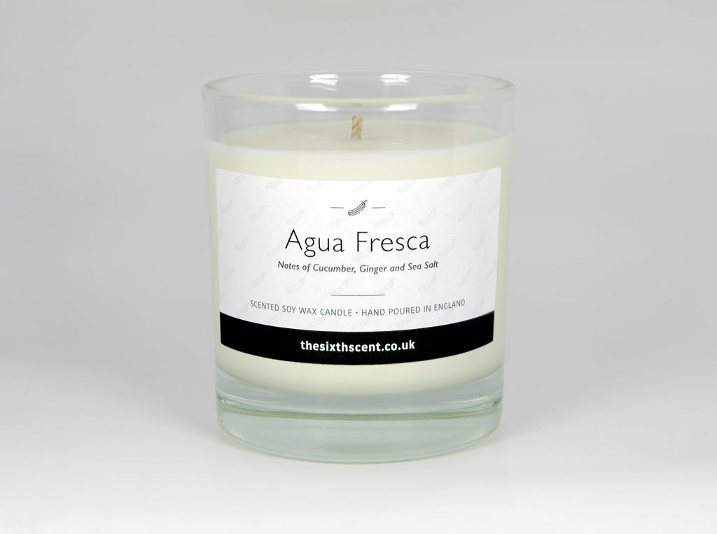 Agua Fresca Scented Glass Candle