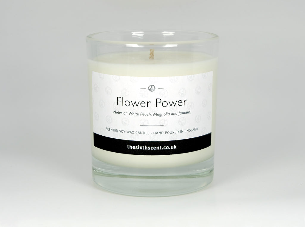 Flower Power Scented Glass Candle