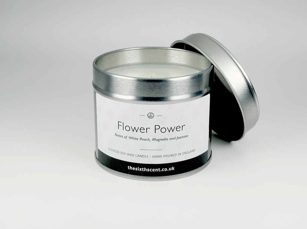 Flower Power Scented Tin Candle