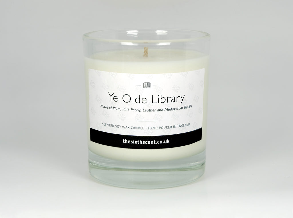 Ye Olde Library Scented Glass Candle