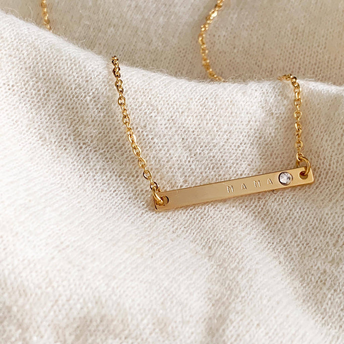 Cosette Birthstone Bar Necklace