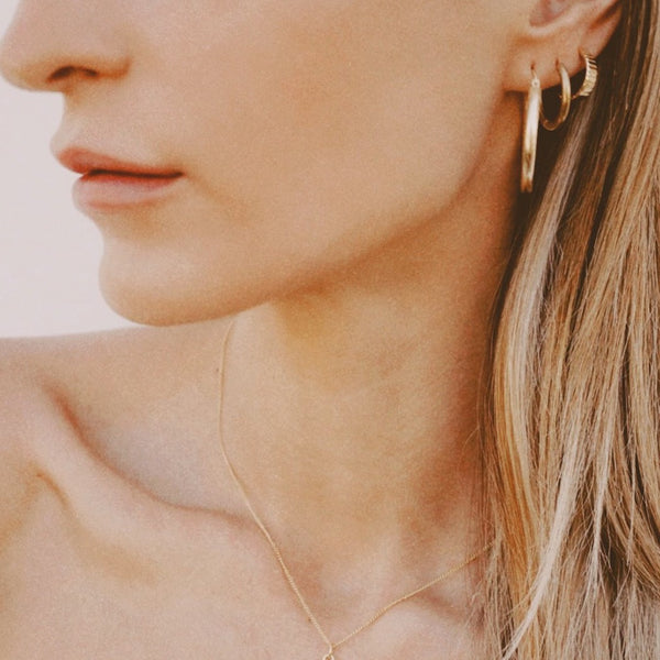 Delphine Chunky Gold Hoop Earrings