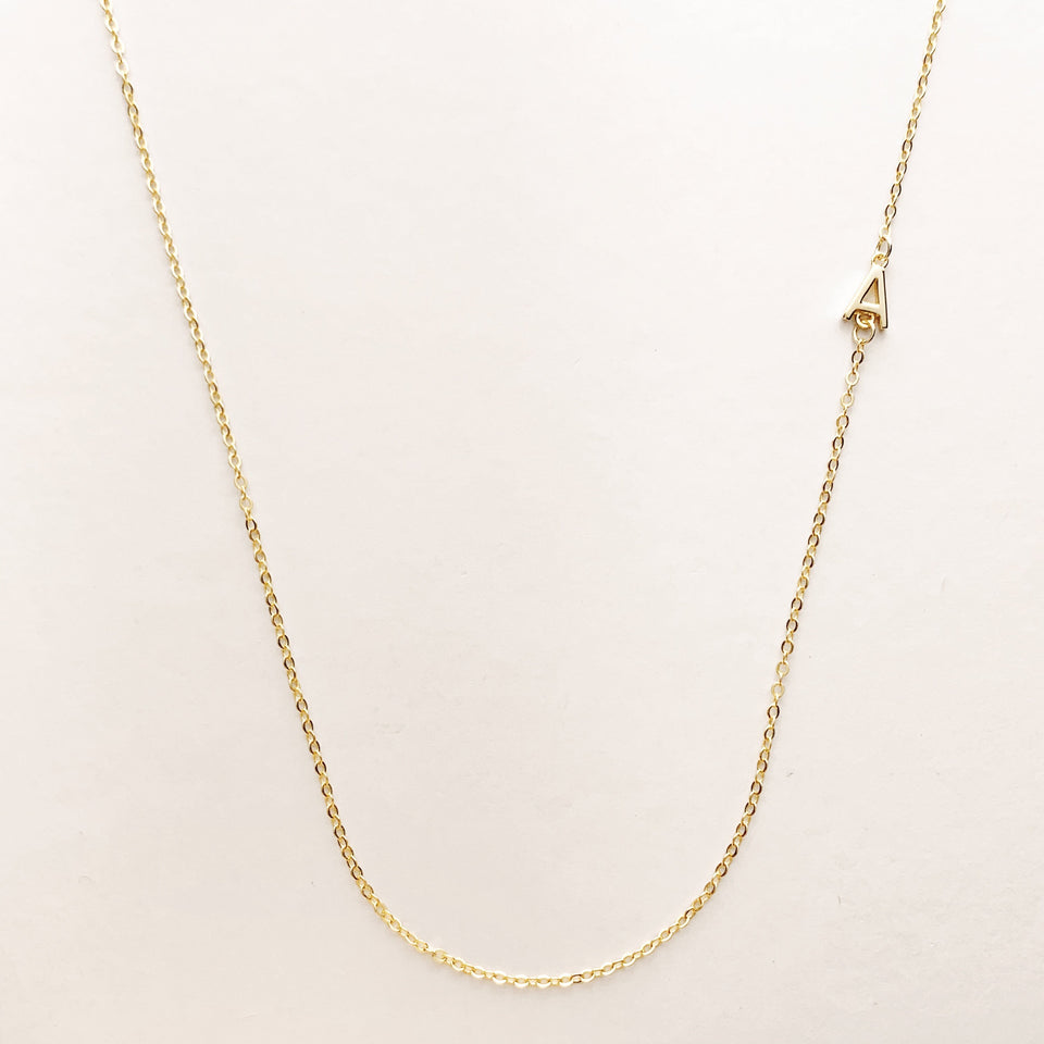 Joie Sideways Initial Necklace