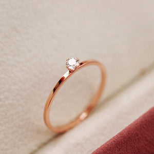 Rose Gold Solitaire Ring