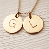 Idylle Twinset Initials Gold Tone Necklace