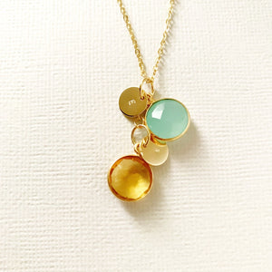 Lilou Birthstone Coin Necklace