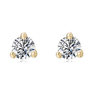Soleil Solitaire Earring Studs