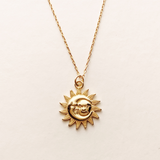 Sun And Moon Vermeil Necklace