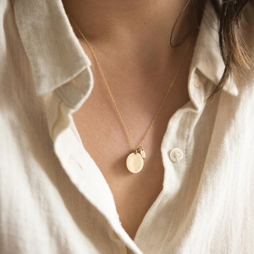 Norah Double Disc Necklace