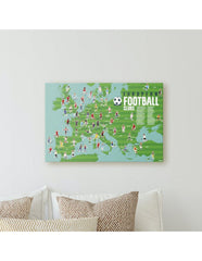Poster en stickers Football (6-12 ans)