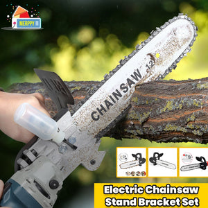 ELECTRIC CHAINSAW STAND BRACKET
