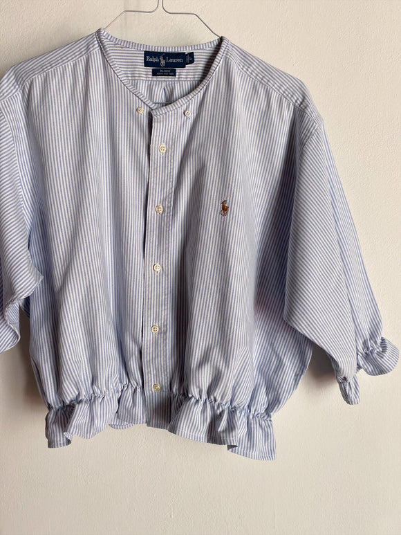 Camicia Gilbi a righine di Ralph Lauren senza colletto