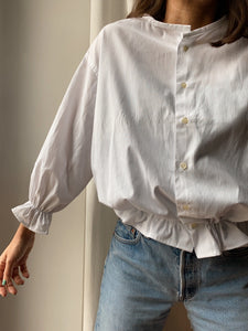 Camicia Gilbi bianca a righine verticali