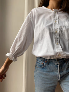 Camicia Gilbi bianca a righine oblique