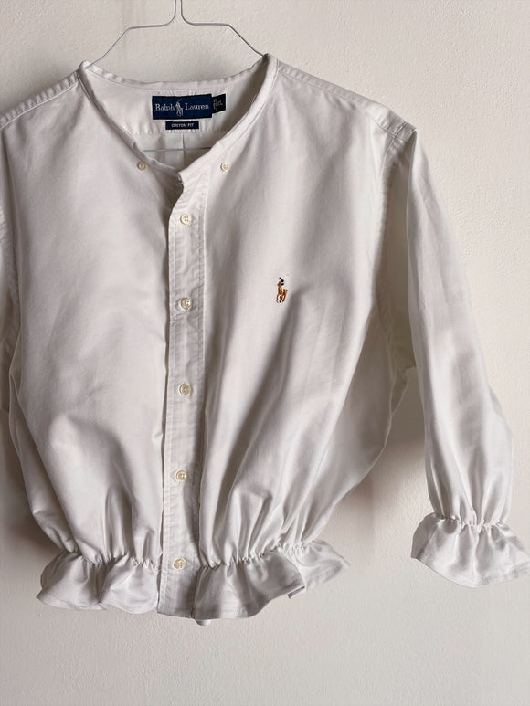 Camicia Gilbi bianca di Ralph Lauren senza colletto