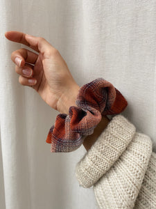 Scrunchie tartan ruggine