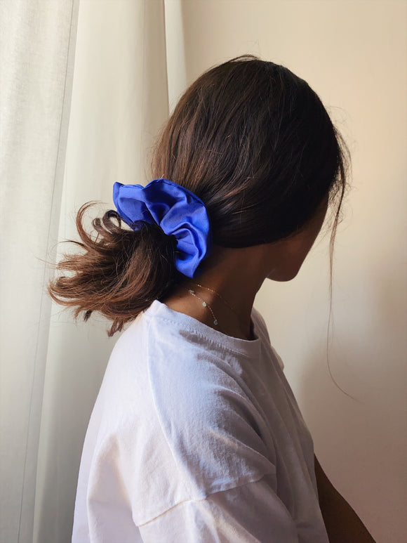 Scrunchie di cotone bluette